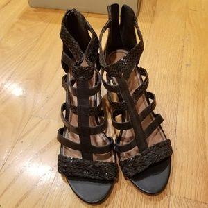 Aldo Gladiator Sandals Braided Black